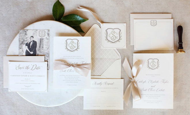 Wedding Invitations and Stationaries in Black and White